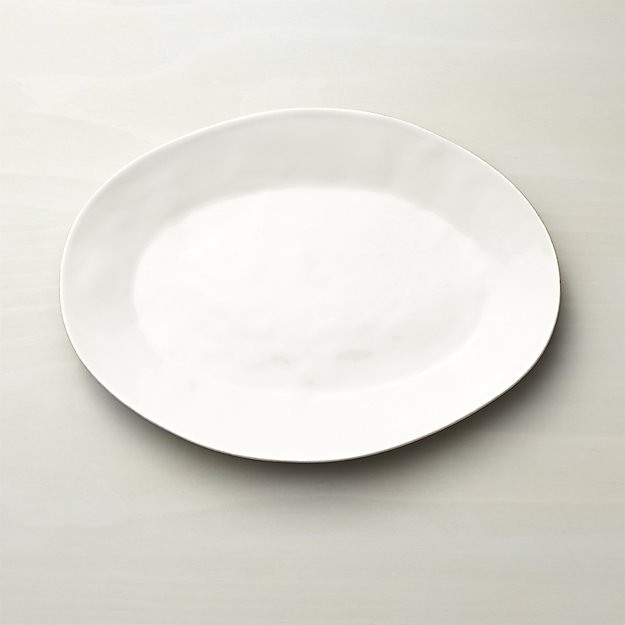 Marin White Oval Serving Platters | Crate and Barrel