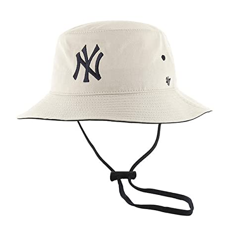 cdf705d6c9a Amazon.com   47 Authentic New York Yankees Bucket Kirby MLB - NATURAL   Sports   Outdoors