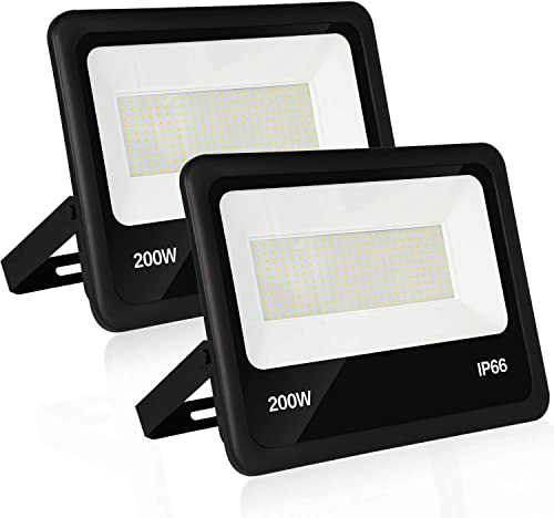 200W LED Security Flood Light with Photocell,100-277V 22000lm Dusk to Dawn Outdoor Commercial LED Area Light, Weatherproof Parking Lot Lighting Fixture,5000K