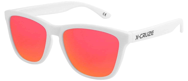 X-CRUZE® Gafas de sol Nerd polarizadas estilo Retro Vintage Unisex...