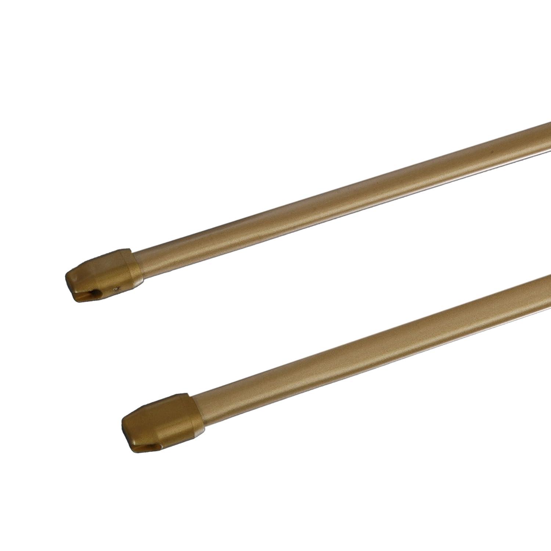 Liedeco Lot de 2 tringles standard 11/mm Variante 050-090 cm ausziehbar gold matt