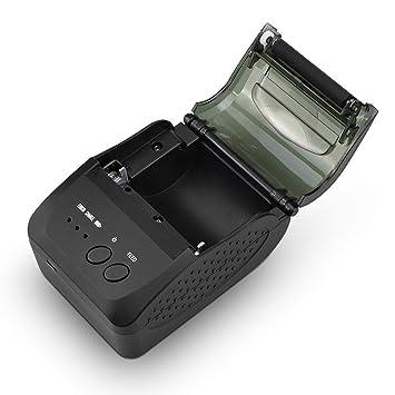 LJ2 Impresora térmica portátil, 58Mm Mini Impresora de Recibos ...