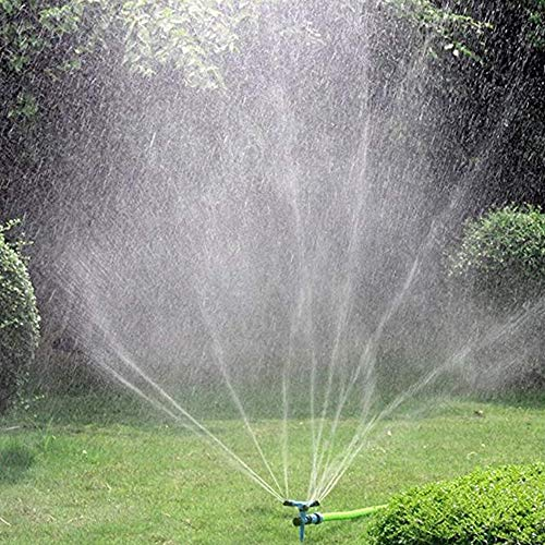 Kadaon Garden Sprinkler, 360° Rotating Lawn Sprinkler with Up to 3,000 Sq. Ft Coverage - Adjustable, Weighted Gardening Watering System