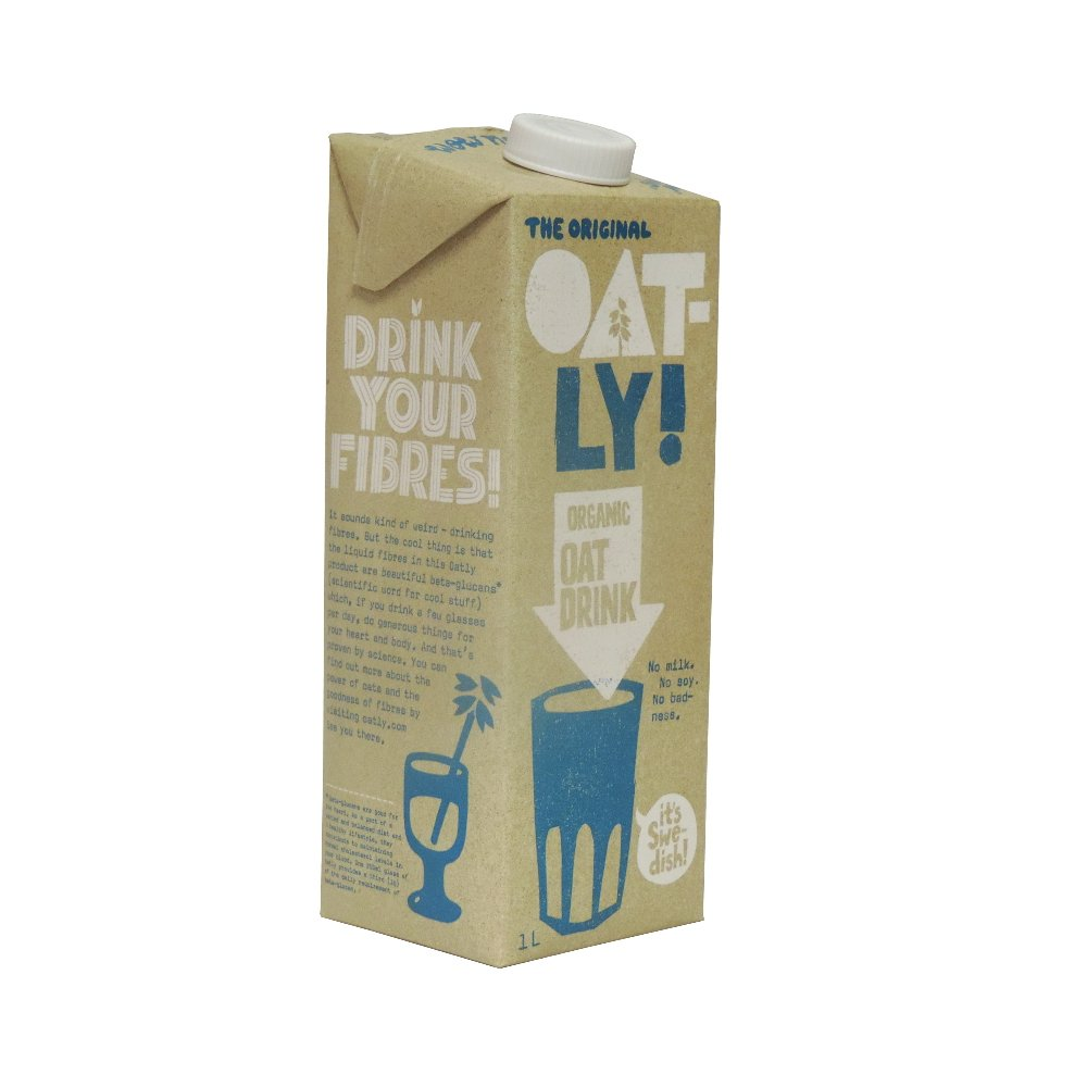 Oatly – Bebida de grasa orgánica – 1 l (paquete de 8 ...