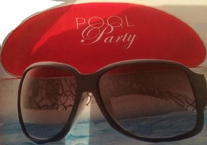 Genuine Lipsy London Hard Black Pink Glasses Sunglasses Case