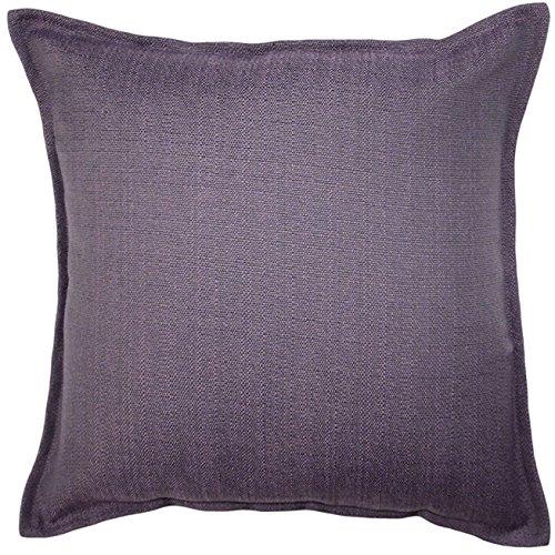 McAlister Savannah Extra Large Pillow Cover / Euro Sham | Semi-Plain Textured Canvas Cushion Sham Case Solid | 24x24