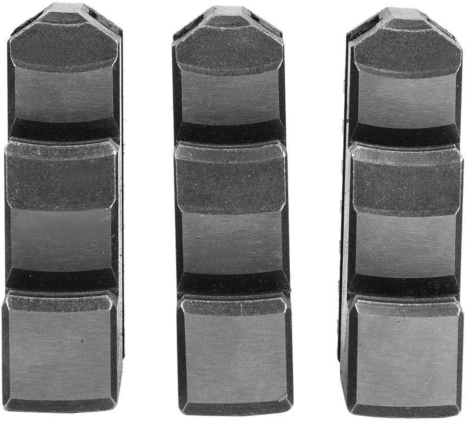 3 pezzi K11-125 Ganascia esterna 5in Chuck 20CrMnTi Mandrino a lunga durata ad alta resistenza Chuck Jaw