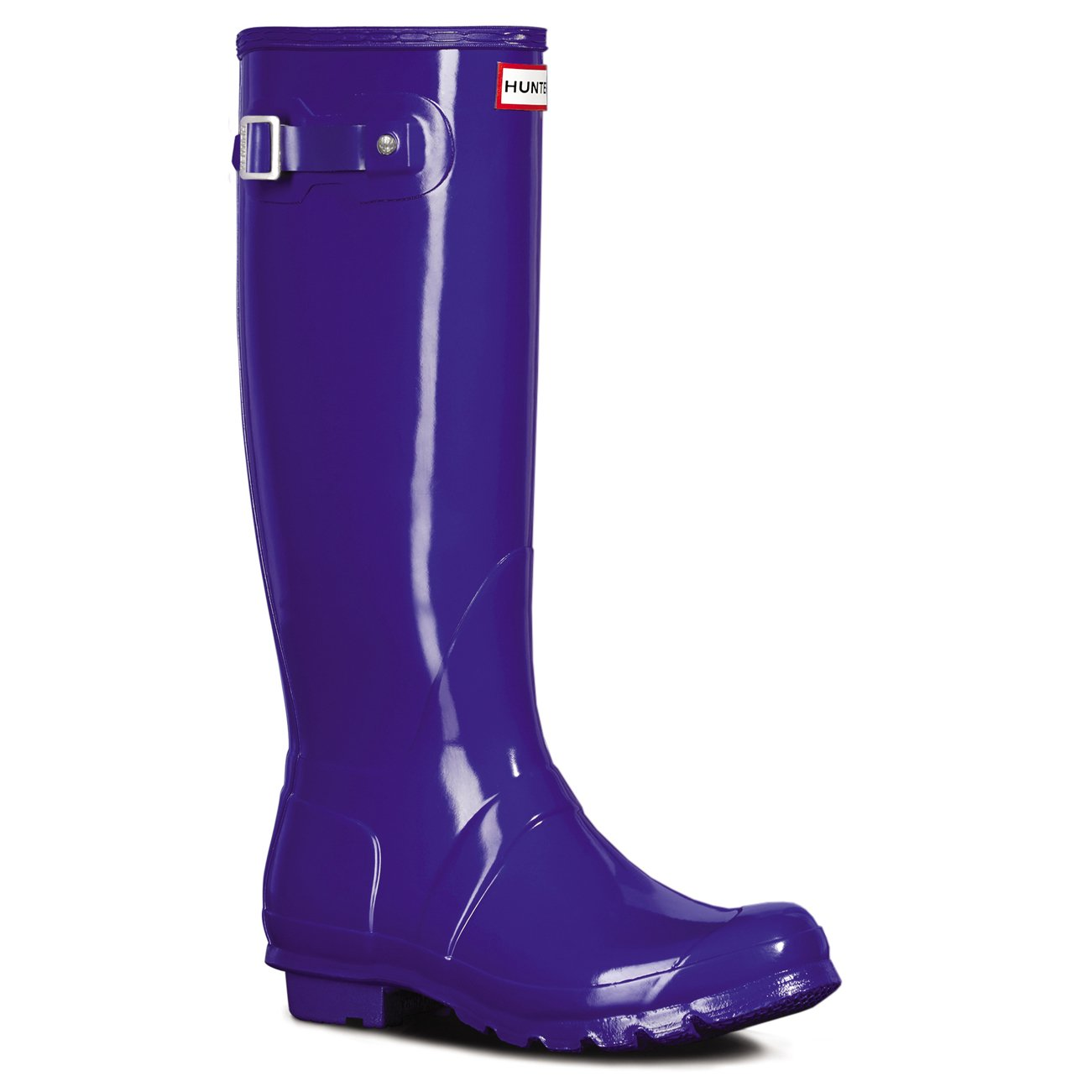 Womens Hunter Original Tall Gloss Waterproof Wellington Winter Rain Boot B01JOU03PS 10 B(M) US|Azure