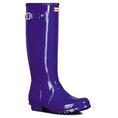 a5c886a52d13 Hunter Womens Original Tall Gloss Waterproof Wellington Winter Rain Boot -  Azure - 5