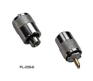 Spartechnik - Conector PL 259/6 para cable coaxial RG-58U y RG-58 (con conector dorado para antenas VHF de radiocontrol marítimo interior o exterior): ...