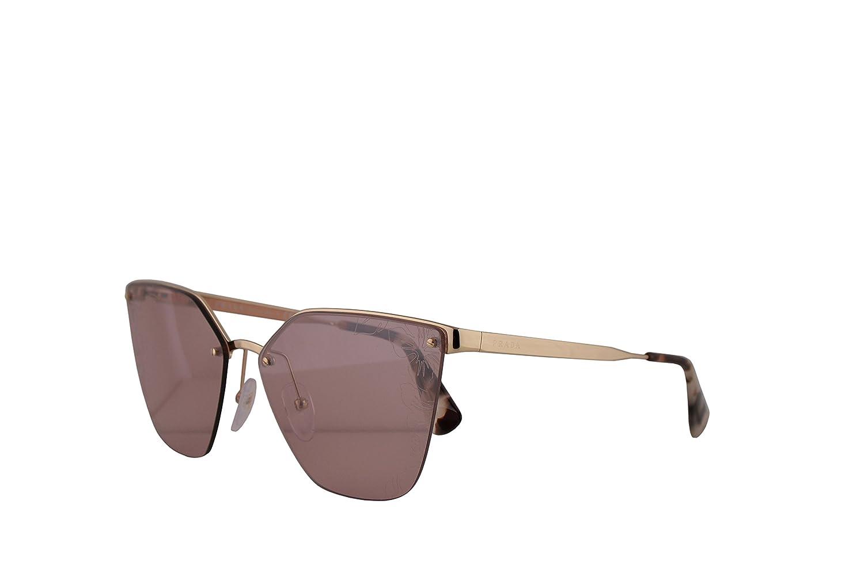 e3c58bd51 Amazon.com: Prada PR68TS Sunglasses Pale Gold w/Pink Mirror Silver Laser  Flower 63mm Lens ZVN117 SPR68T PR 68TS SPR 68T: Clothing