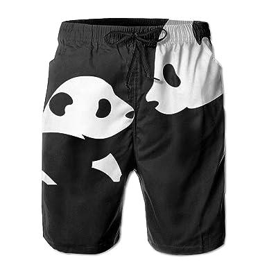KAKICSA Beach Yoga Pants, Cute Pandas Black Sexy Hot Shorts ...