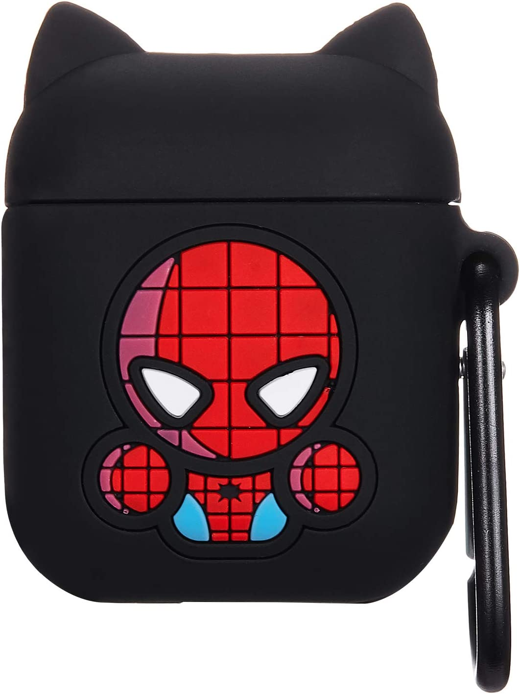 Mulafnxal Compatible with Airpods 1/&2 Case,3D Funny Cartoon Character Silicone Airpod Cover,Kawaii Fun Cool Catalyst Design Skin,Fashion Animal Cases for Girls Kids Teens Boys Air pods Cute Spider
