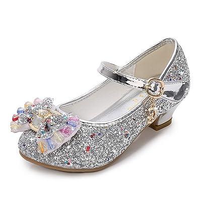 2ccf9b5dd Fanessy Fille Sandales Chaussure de Princesse à Talon Reine de Neige ...