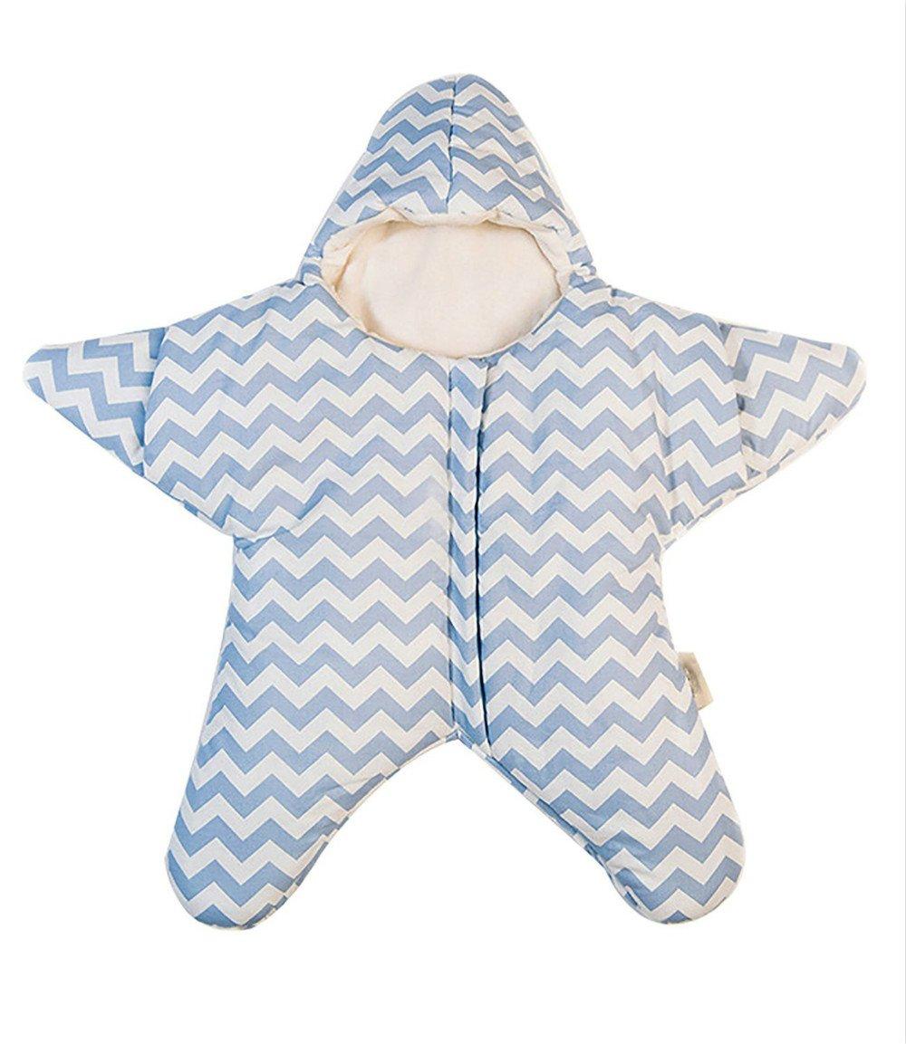 Luckyauction Newborn Baby Bunting Bag Winter Warm Starfish Sleeping Bags Super Soft 0-12M