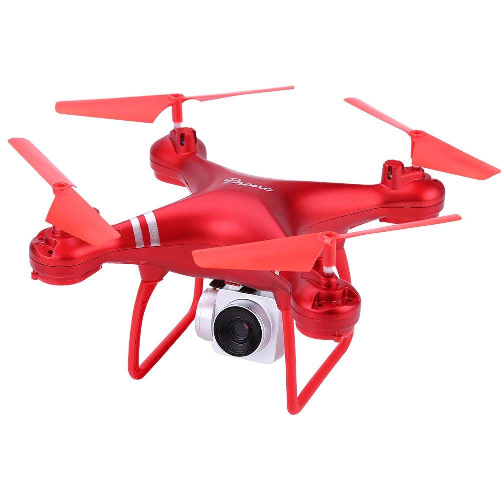 3 Farben Wifi RC Drone Fernbedienung Quadcopter Höhe Halten Spielzeug mit 1080 P Kamera(Rot)