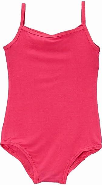 ab866b079712 Amazon.com  Wenchoice Hot Pink Spaghetti Strap Leotard Girl s M(3T ...