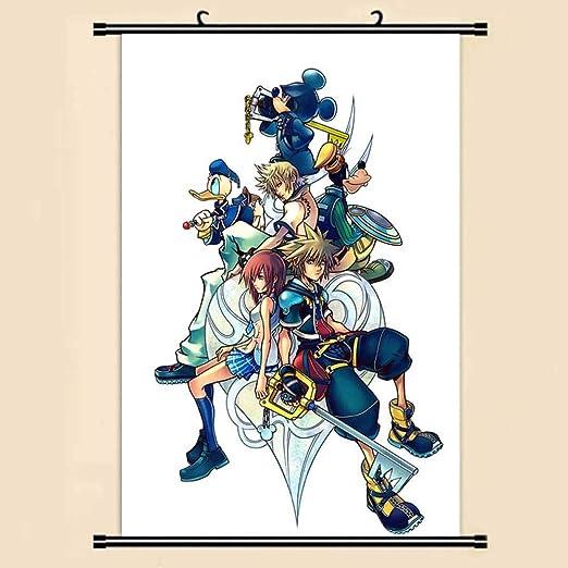 Ndegdgswg Anime Manga Kingdom Hearts Wall Scroll Painting