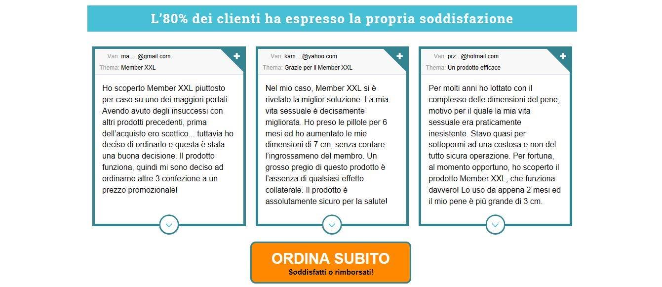Member XXL : opinioni - prezzo - funziona - Italia - effetti collaterali ...