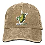 VFiveFashions Funny UNI - Corn Mens Denim Fabric Baseball Cap Fashion Headwear