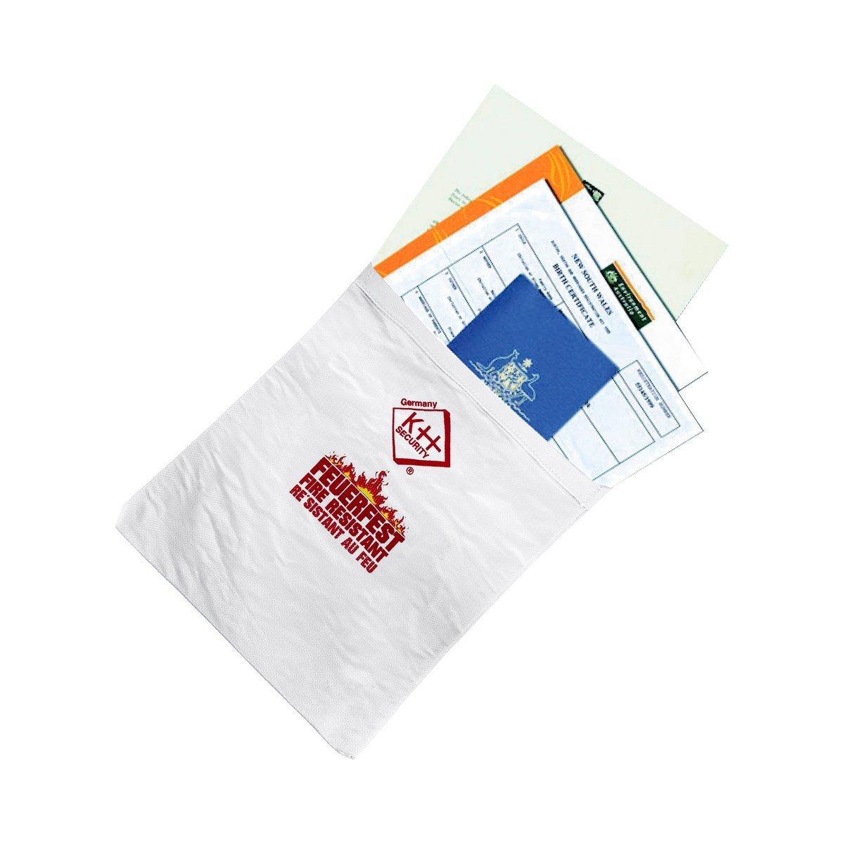12. kh security Feuerfeste Dokumententasche, weiß, 290148
