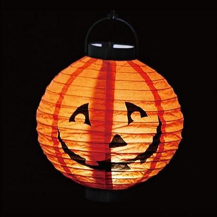 LED Paper Lantern Pumpkin Spider Bat Hanging Light Lamp Halloween Party Decor
