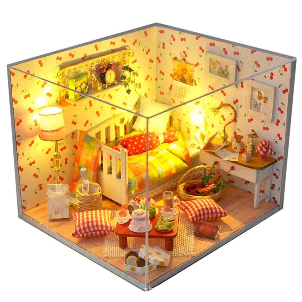 Kinder Spielzeug Puppenhaus mit mit mit Möbeln Diy House Assembly House-Modell ist die Frucht des Herbstes Creative Handmade Toys Geschenk der Geburtstagsgeschenk am Valentinstag Mini Diorama Haus Renovierung 76c619