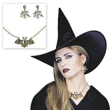 Kette Spinnennetz Hexenkostüm Zubehör Halloween Spinnenkette Kostümschmuck
