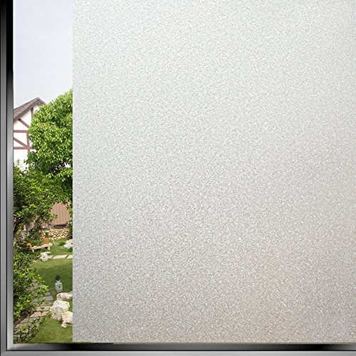 SU&HIN Frosted window sticker,Light opaque self-adhesive glass film office window bathroom sliding door and window film-B 40x500cm(16x197inch)