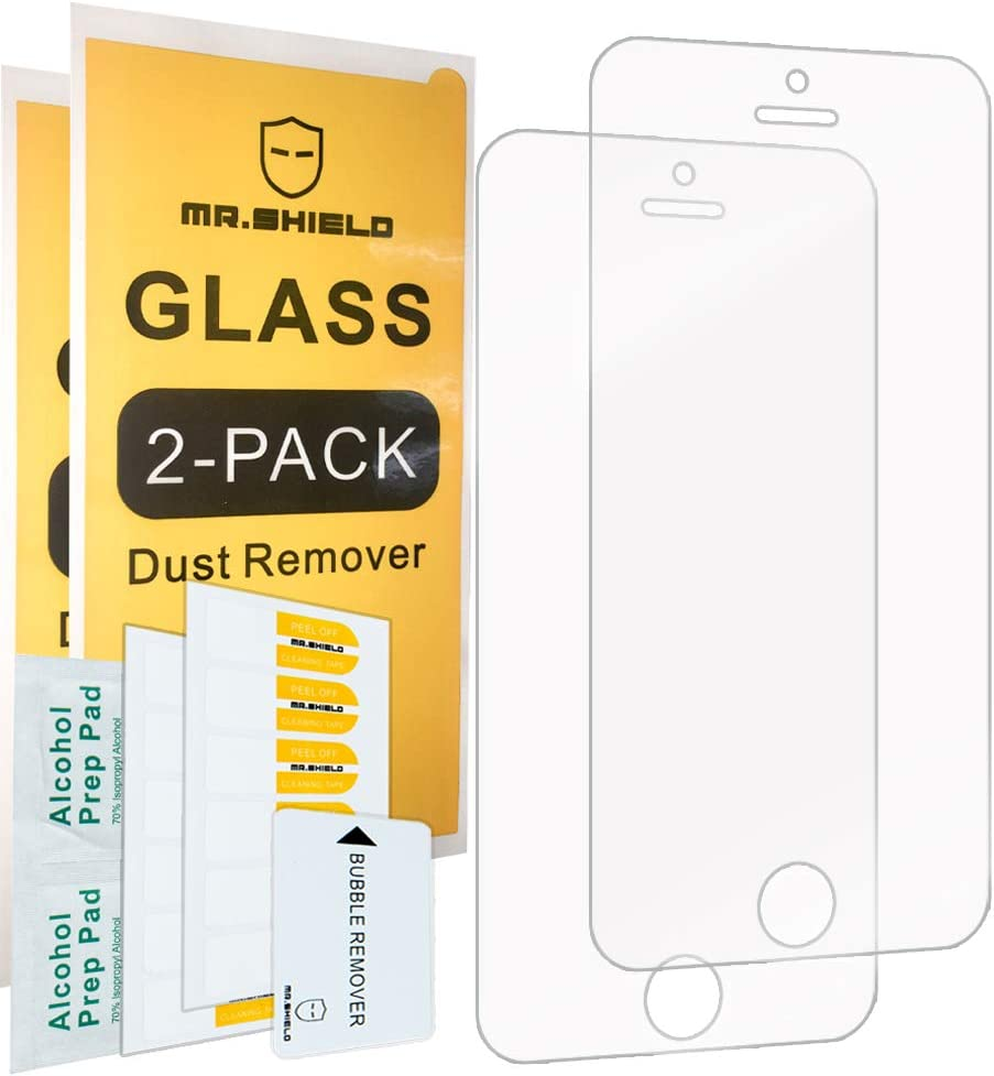 [2-PACK]-Mr.Shield For iPhone SE (2016 Edition ONLY) / iPhone 5/5S / iPhone 5C [Tempered Glass] Screen Protector with Lifetime Replacement