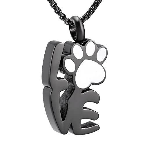Amazon.com: Forever Love huella de perro acero inoxidable ...