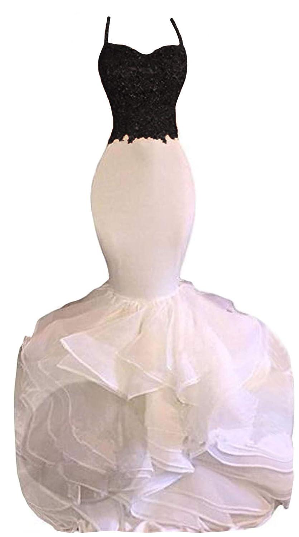 cda8e6781005 Amazon.com: Uryouthstyle Sexy Puffy Spghetti Beaded Mermaid Evening Prom  Dresses: Clothing