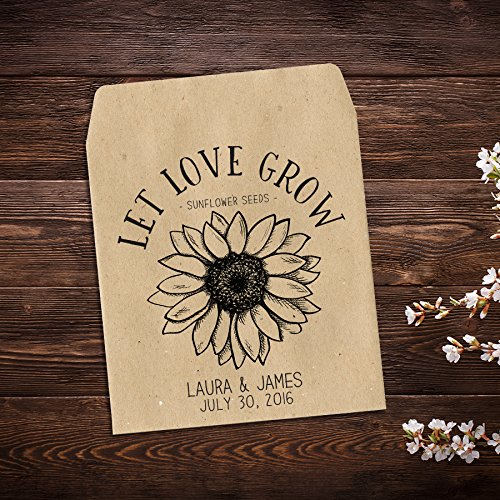 Amazon Sunflower Seed Packets Personalized Wedding Favor Seed