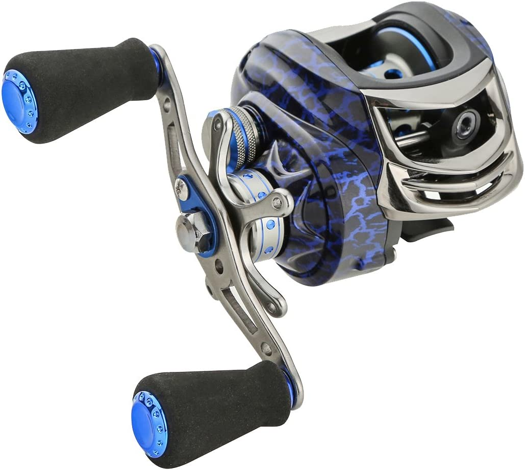 Palm fishing Baitcasting Fishing Reel with 14+1 Ball Bearings 6.3:1 Gear Ratio Saltwater Baitcaster Fishing Reel