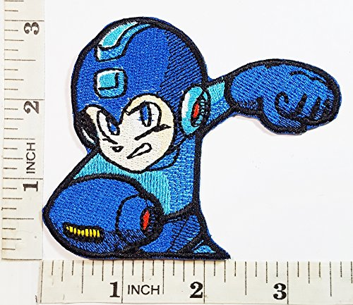 Megaman Powered up Megaman Patch Symbol Jacket T-shirt Patch Sew Iron on Embroidered Sign Badge (Movie Up Costumes)