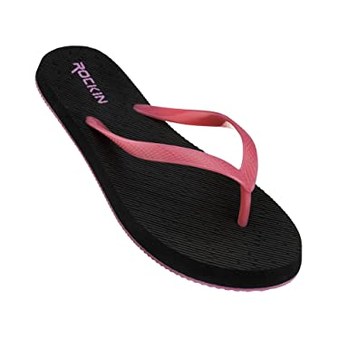 793eb98b70 Amazon.com | Rockin Womens Flip Flops Sandals - Simple Casual Comfortable  Flip Flops for Beach, Pool, Spa, Yoga, Spring, Summer Sandals | Flip-Flops