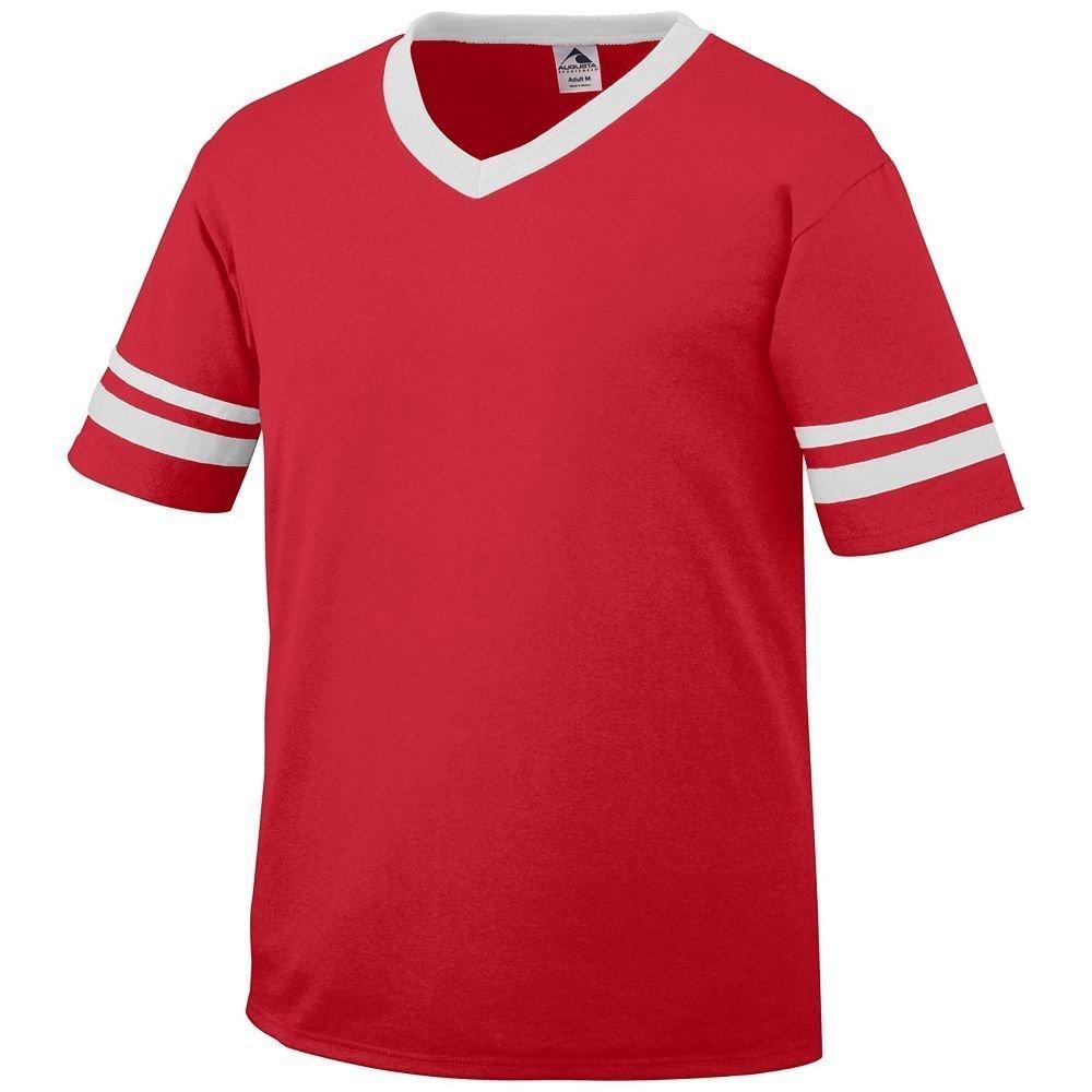 Augusta Sportswear Sleeve Stripe Jersey – Boys ' B003WXRDHA Medium|レッド/ホワイト レッド/ホワイト Medium