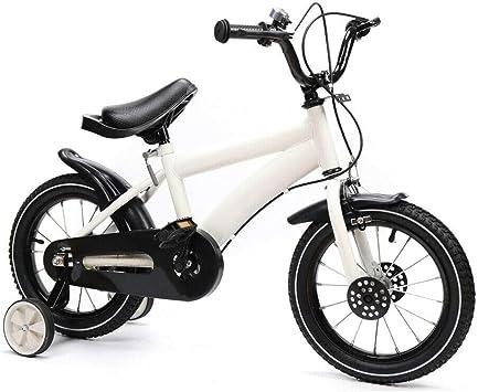 Shioucy - Bicicleta infantil de 14 pulgadas, para niños y niñas, bicicleta infantil, Niños infantil, Blanco: Amazon.es: Deportes y aire libre