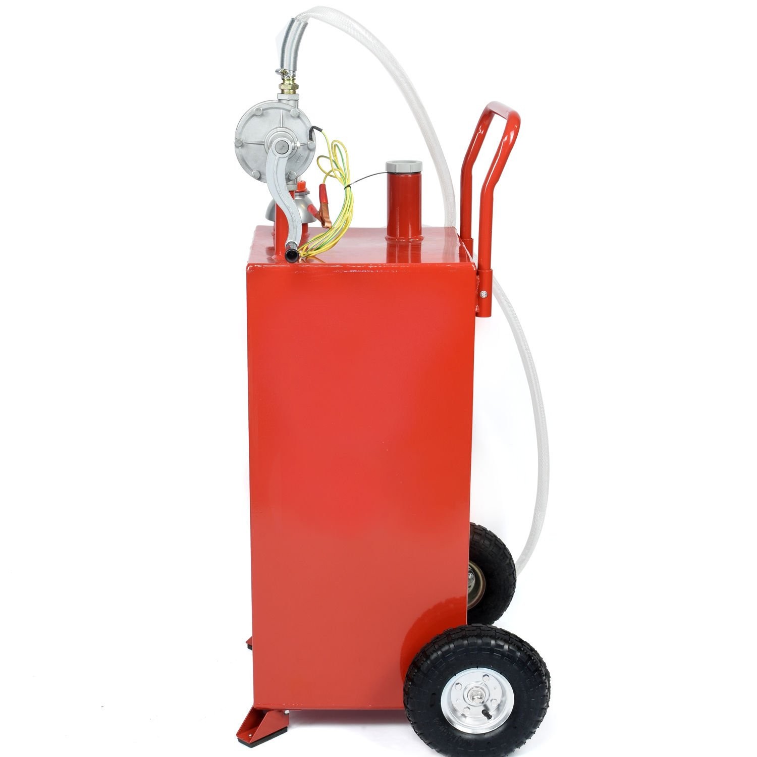 30 Gallon Gas Fuel Diesel Caddy Transfer Tank Container w/ Rotary Pump Tool by Wang Tong Shop (Image #2)