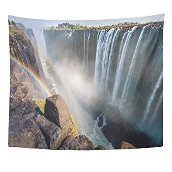 Amazon Com Emvency Wall Tapestry African Rainbow Over