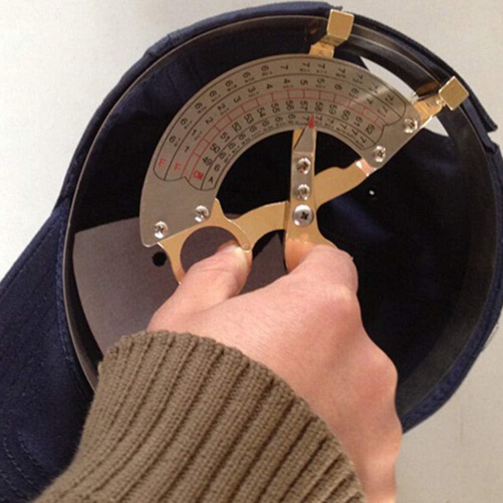 Gold Cap Hat Measuring Tool Hand Shake 49cm-62cm Cap Inner Diameter Ruler Metal