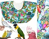 Bird Shoulder Cape - Colorful Jungle Theme - Protects your clothes from busy bird beaks and droppings by Avianweb