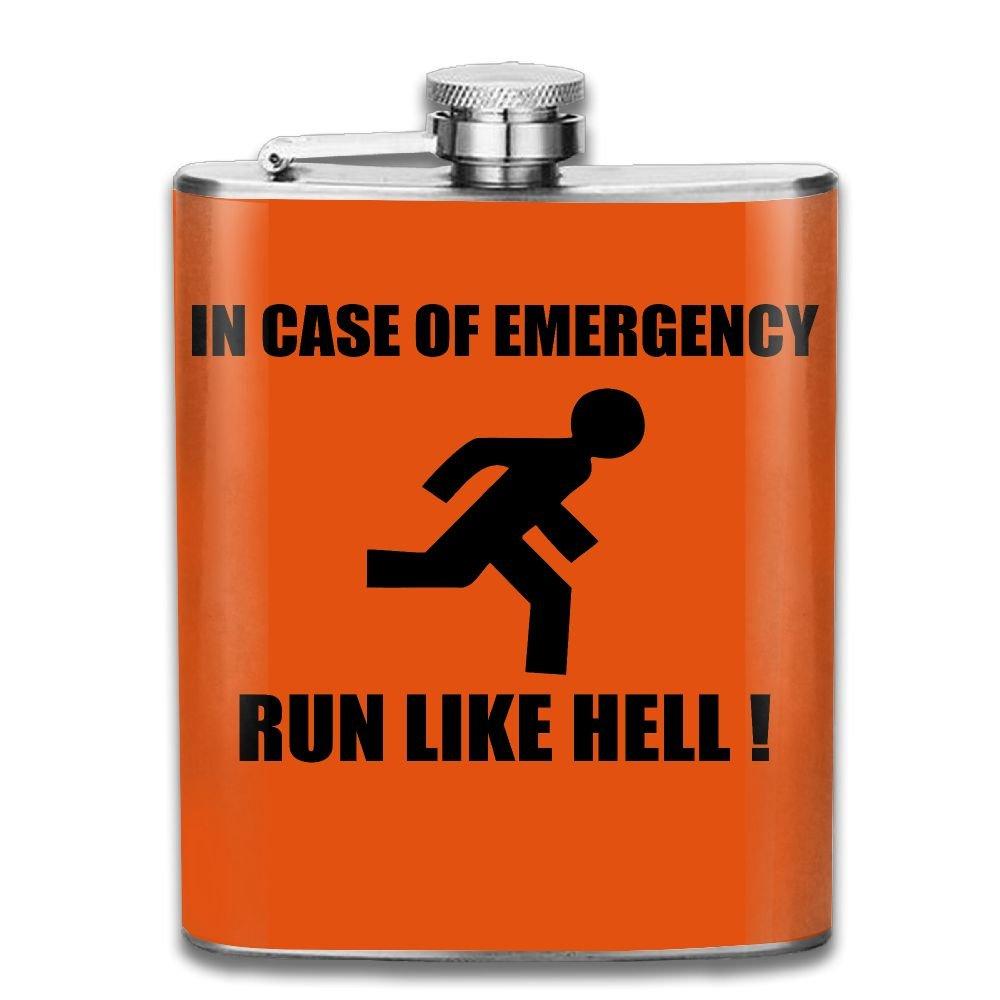 今季一番 ヒップフラスコfor ヒップフラスコfor Liquorメンズin 7OZ Case of Emergency Run Like Hellステンレススチールボトルユニセックス Run 7OZ ブラック SHIRLEY-LX-25404477 7OZ アッシュ B078V67DSN, インテリアショップ ココテリア:975a7d54 --- a0267596.xsph.ru