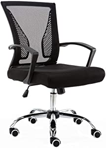 Modern Home Zuna Mid-Back Office Chair - Black/Black