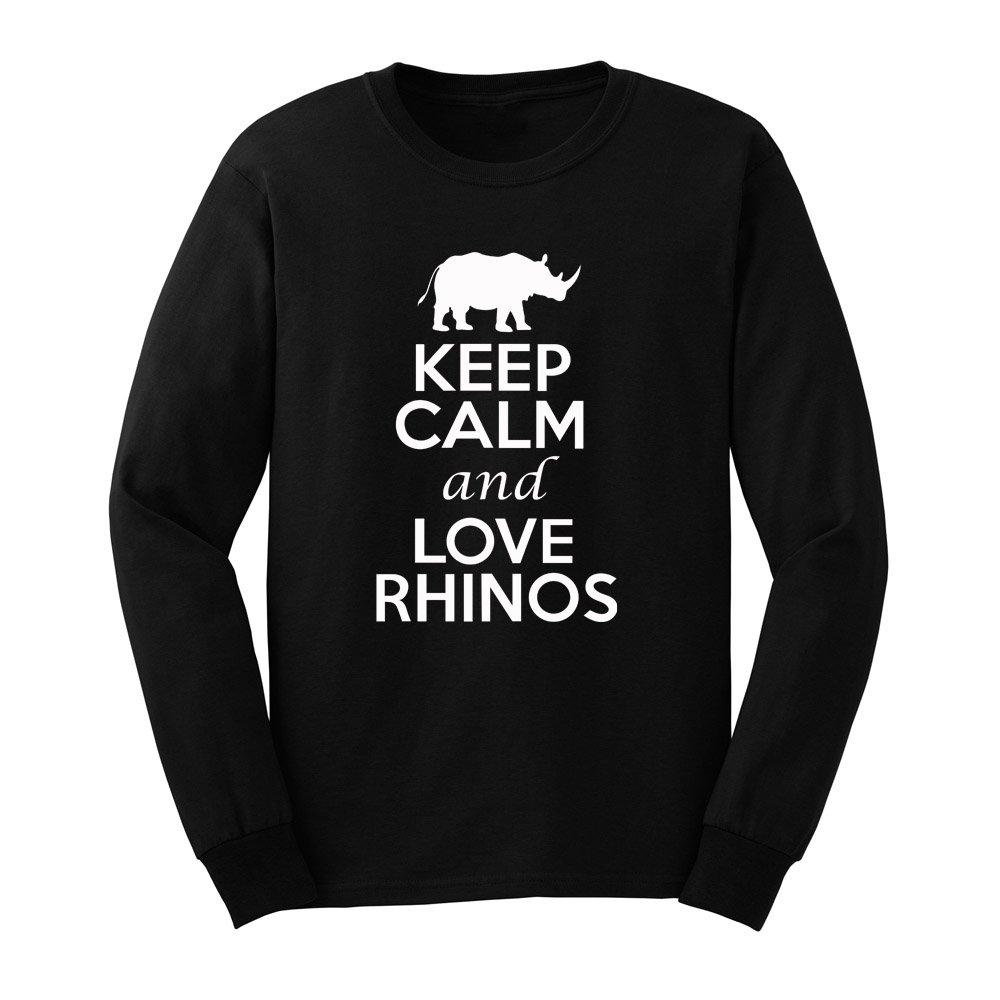 Loo Show S Keep Calm And Love Rhinos T Shirts Casual Tee