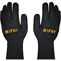 RIFNY Barbecuehandschoenen, ovenhandschoenen, hittebestendig tot 800 °C, bakhandschoenen, vuurvaste handschoenen voor…