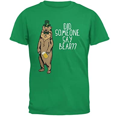 Old Glory ST. Patrick's Day Bear Beer Funny Pun Mens T Shirt: Amazon.co.uk:  Clothing