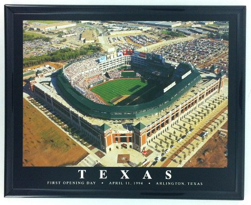 Framed Texas Rangers Stadium Opening Day Wall Art Print F7532A (Art Frame Glass Rangers Texas)
