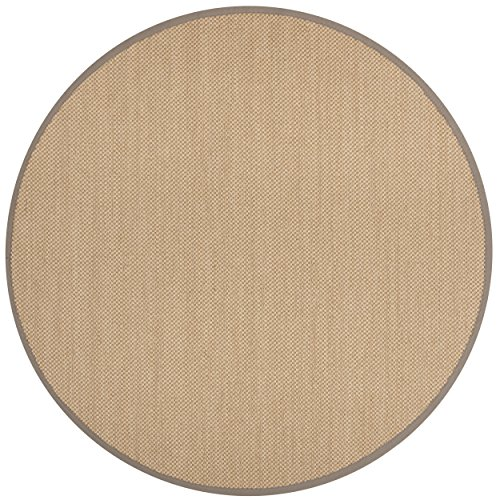 Safavieh Natural Fiber Collection NF141G Maize and Grey Sisal Round Area Rug (6' in ()