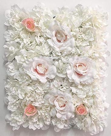 Blush Blooms Premium Decorative Flower Panels Handmade With Artificial Silk Flowers Wall Decor Flower Walls Backdrops Weddings Bridal Showers